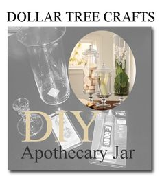 DOLLAR TREE HOME DECOR IDEAS | Make Your Own Apothecary Jar From Dollar Tree- thesteenstyle.com