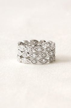 What a beautiful ring that is simple yet so elegant! Stackable Deco Rings- Set of 3 $49.00