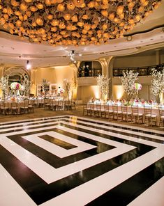 Cover the carpeting in the reception area with a custom/fun dance floor