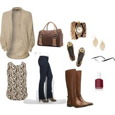 """Fall Cheetah Outfit"""