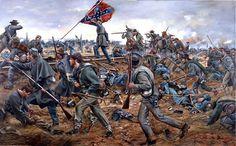 ONWARD GEORGIANS Limited Edition Civil War Print by Don Troiani – Military Art and Civil War Irish Brigade Prints