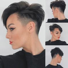 Icy Short Pixie Cut - 60 Cute Short Pixie Haircuts – Femininity and Practicality - The Trending Hairstyle Short Red Hair, Super Short Hair, Short Hair With Layers, Layered Hair, Short Hair Cuts For Women Pixie, Red Pixie Cuts, Brown Pixie Cut, Pixie Cut Styles, Long Pixie