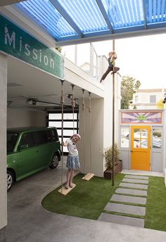 Carport with Play Area Carport Design Makes for Creative Outdoor Living Space