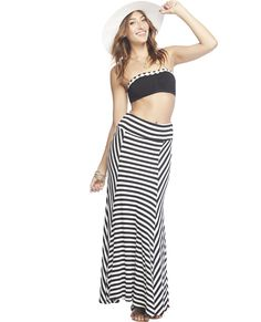 Striped Maxi Skirt | WET SEAL