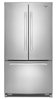 Whirlpool 36 Inch Energy Star Counter-Depth French Door Refrigerator with 20 Cu. Capacity, Accu-Chill Temperature Management System, Temperature-Controlled Pantry and Frameless Glass Shelves, in Monochromatic Stainless Steel Water Dispenser, Whirlpool, Beverage Refrigerator, French Doors, Glass Shelves, Counter Depth French Door Refrigerator, Door Storage, Refrigerator, Doors