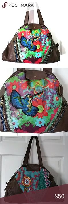 Desigual large purse Very nice non leather hobo tote bag, very spacious with several compartments & pockets. Bird & floral print design front Desigual Bags Totes