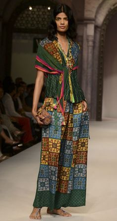 Thai style printed shirt and trouser by ANUPAMA DAYAL. http://www.perniaspopupshop.com/wills-fashion-week/anupamaa-dayal