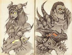 Wow: Alexstrasza and Deathwing by Enijoi.deviantart.com on @deviantART