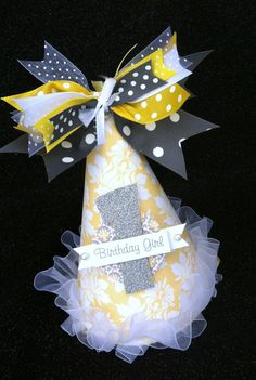 DIY birthday boy or girl cone party hat.  Use them for decoration, accent on tablescape, add to party favor or greet each little guest with one at your next kids party.