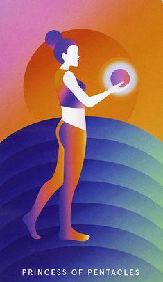 Princess of Pentacles - Mystic Mondays Tarot Tarot Card Decks, Tarot Cards, Page Of Pentacles, Tarot Card Meanings, Tarot Readers, Archetypes, Deck Of Cards, Witchcraft, Mondays