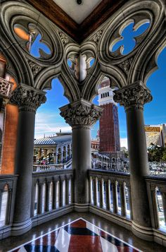 Venetian Columns, Las Vegas   - Learn all about My First Hacked Travel Trip (to Las Vegas) and how I saved $1,023.88 http://travelnerdnici.com/first-hacked-travel-trip-las-vegas/ - Explore the World with Travel Nerd Nici, one Country at a Time. http://TravelNerdNici.com