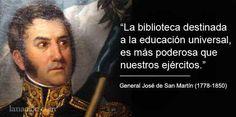 San Martín y los libros