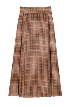 Designer to watch: Emilia Wickstead. Plaid silk skirt.