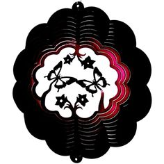 "12"" Butterfly 3D - Raspberry Starlight Wind Spinner"