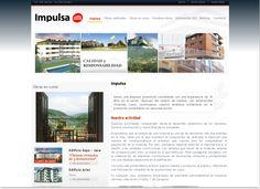 Diseño web para la empresa inmobiliaria Impulsa.  http://www.impulsainmobiliaria.com