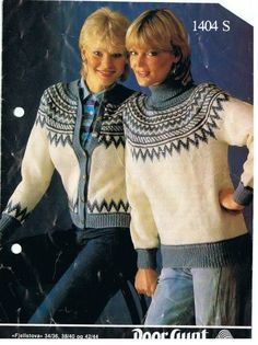 Fjellstova 1404 S. Sandnes uldvarefabrik A/S. Norwegian Knitting, Jumpers, Knitwear, Knitting Patterns, Pullover, Retro, Norway, Bb, Sweaters