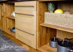 Oak Kitchen Cabinets, Kitchen Units, Base Cabinets, Kitchen Doors, Solid Oak Doors, Solid Wood Kitchens, Shaker Doors, Steel Bar, Drawer Fronts