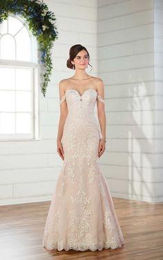 D2487 Blush Wedding Dress with Rich Lace by Essense of Australia