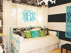 Metal Wall Monograms AMAZING Statement piece 16 x by Monogramsical, $85.00 I want it in Brown