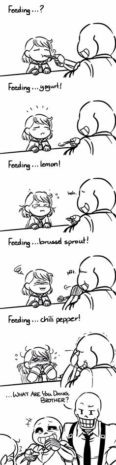 Frisk and Sans - MobsterUT AU - comic
