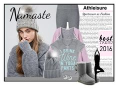"""Best Trend 2016 - Athleisure"" by smile24k ❤ liked on Polyvore featuring Miss Selfridge, ATM by Anthony Thomas Melillo, LC Trendz, UGG, BERRICLE and FOSSIL"