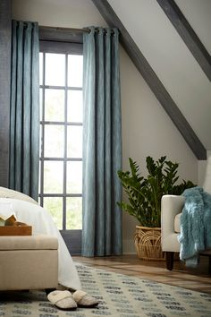 Create A Coordinated Scene In Your Bedroom With An Area Rug Curtains And Accessories Allen Rothblue