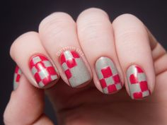 Red and Gray Checkerboard