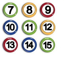 Student Number Magnets - Attendance Magnets - Calendar Magnets - Counting Practice - Early Math - Home-school Family - Preschool Learning Shapes Worksheets, Kids Math Worksheets, Calendar Numbers, Student Numbers, Job Chart, Book Background, Magnetic Calendar, Early Math, Math For Kids