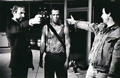 Alan Rickman, Bruce Willis and John McTiernan | Rare and beautiful celebrity photos