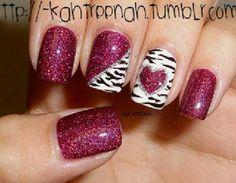 #zebra #heart #glitter