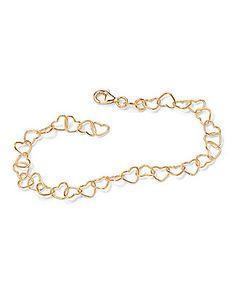 Beautiful & delicate heart-link ankle bracelet.