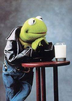 Kermit: Got milk? or Kermit's Biker Style