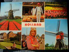 Old skool kaart van Nederland.