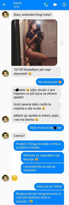 Demotywatory.pl Funny Sms, Funny Text Messages, Wtf Funny, Funny Texts, Funny Jokes, Hilarious, Polish Memes, Funny Motivation, Funny Conversations