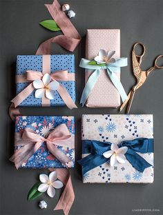 #Springwrap #Giftwrap #wrappingideas www.LiaGriffith.com: