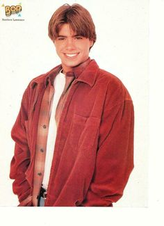 Matthew Lawrence, Lawrence Photos, The Wedding Singer, 80s And 90s Fashion, Hair Magazine, Boy Meets World, Teen Boys, Boy Hairstyles, Most Beautiful Man
