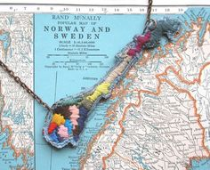Map of Norway Necklace - I wonder if Mom would like this.