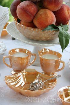 StoneGable: Peaches, Cream and Peach Lustre
