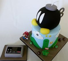Super Nintendo x Mario Brothers Cake...perfect for my recent addiction to everything mario :P