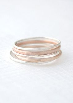 Mixed Stacked Rings stacking rings