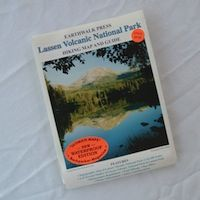 Waterproof map to take hiking  in Lassen Volcanic National Park.  www.stbernardlodge.com/store.php $9.95