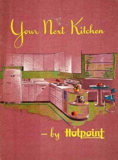 1944 Print Catalog Kitchen Interior Design House - Hotpoint