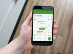 GO Transit App Favourites Screen for Android