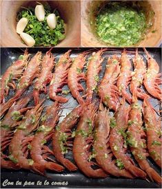 Receta de Gambones al horno con limón - Paso 3 Whats For Lunch, Ceviche, Italian Recipes, Italian Foods, Tapas, Asparagus, Seafood, Recipies, Food And Drink