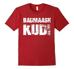 a169f97dcf Mens Funny Desi Shirt Badmaash Kudi - Rebellious Girl Shirt 2XL Cranberry  Fourth Of July Shirts