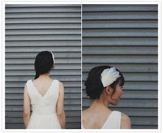 Bride's handmade Feather Headpiece from Twigs and Honey