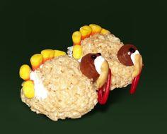 thanksgiving rice krispies treats