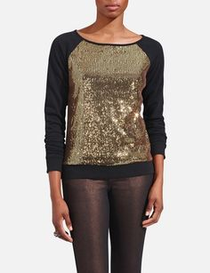 Thought this was fun  Sequin Sweatshirt from the Limited