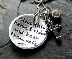 Handstamped Sterling Silver Horse by EquineExpressionsbyD on Etsy, $52.00