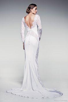2014 HAUTE COUTURE EVENING DRESSES | pallas couture bridal 2014 fleur blanche caressa long sleeve sheath ...